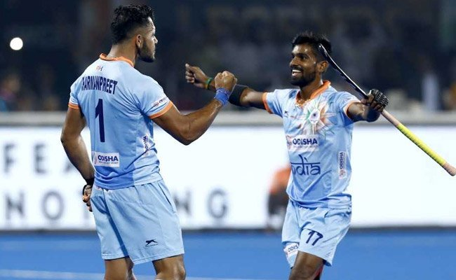 Congratulations @TheHockeyIndia on beating Canada 5-1 and topping Pool C and for securing a place in the quarterfinals. Best wishes for the quarter finals #INDvCAN Photo