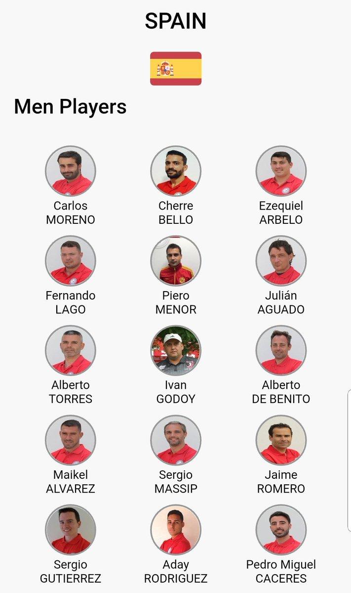 Ya presentados todos uno a uno .. Estos son los 19 jugador@s de la Selección Española 🇪🇸 de #Footgolf que nos representarán desde el 9 al 16 de diciembre en el mundial  @FIFGFootGolfWC de Marrakech 🇲🇦  🍀💪Suerte chic@s! todo el país estará pendiente a ustedes   #VamosEspaña💪🇪🇸