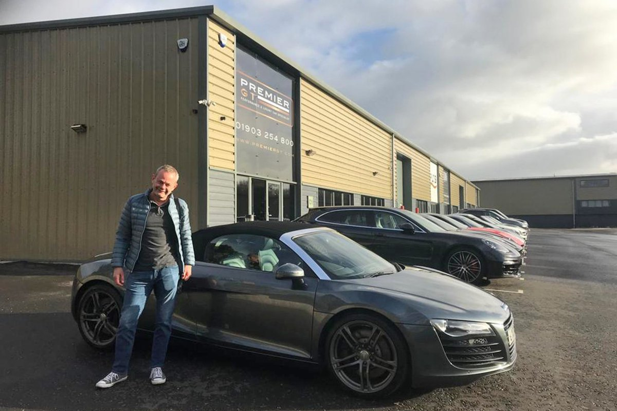 Our Audi R8 Spider was the second car to find its new home today as we handed the keys over to Grant. A truly great guy to deal with, we wish you all the best with the R8 and hope that you get a chance to get that roof down soon! #Premier_GT