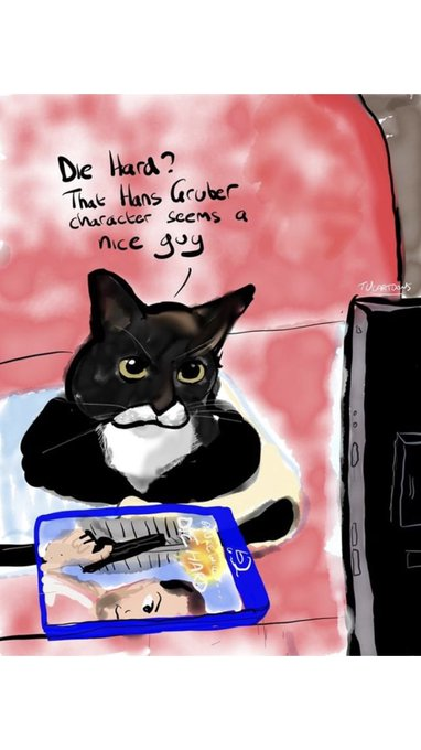 I am sporadically blessed by cartoons of Ambridge from @Trev71_MUFC and this one is a total joy. #caturday Photo