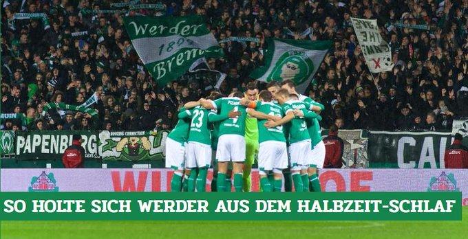 Weniger spektakulär als viele vielleicht erwartet hatten, aber effektiv. So holte sich #Werder aus dem Halbzeit-Schlaf: #SVWF95 Foto