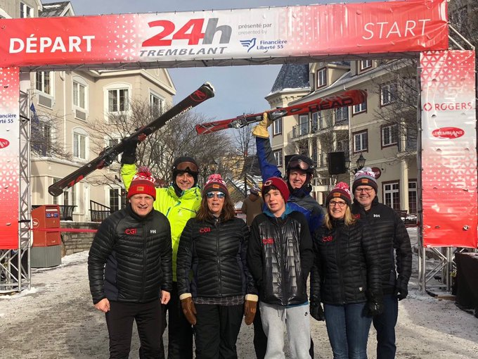 Braving -26 to raise funds for children's charities. #24htremblant Photo