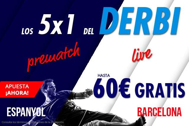 Apuesta a pre-match 1X2 un mínimo de 30 Euros en el partido de liga Espanyol - Barcelona de este sábado 8 de diciembre y participa gratis en 4 apuestas más. >> #barcelona #espanyol Photo