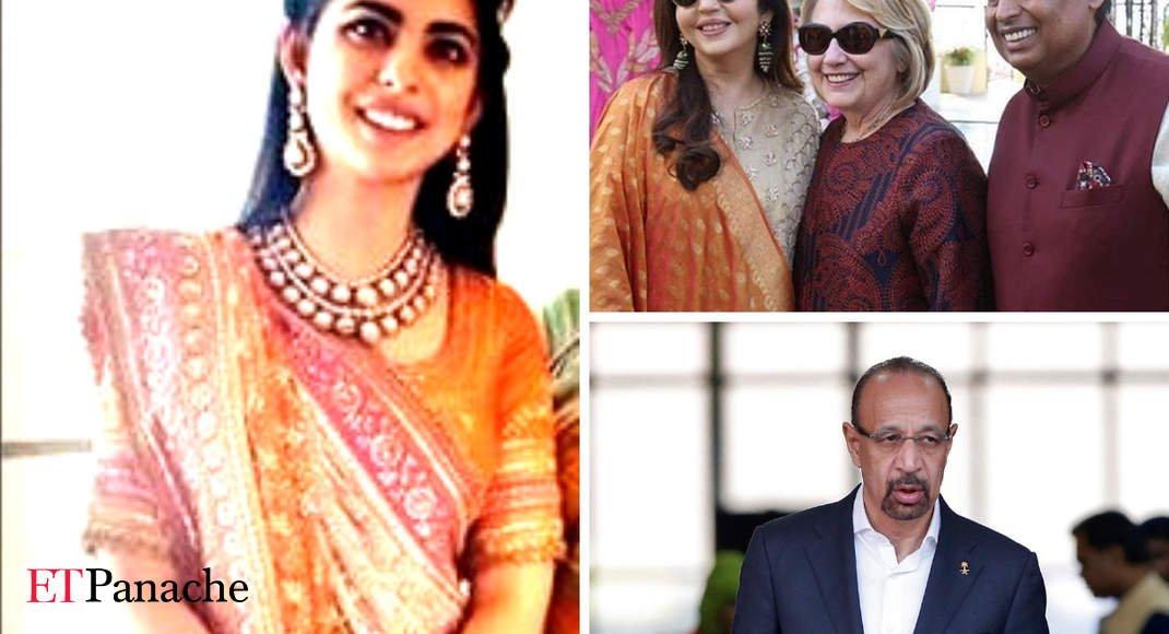 Isha-Anand Wedding: Saudi Oil Minister Khalid al-Falih, Hillary Clinton Among Guests In Udaipur - Celebration Time - Economic Times https://t.co/ERFLPI70Jq