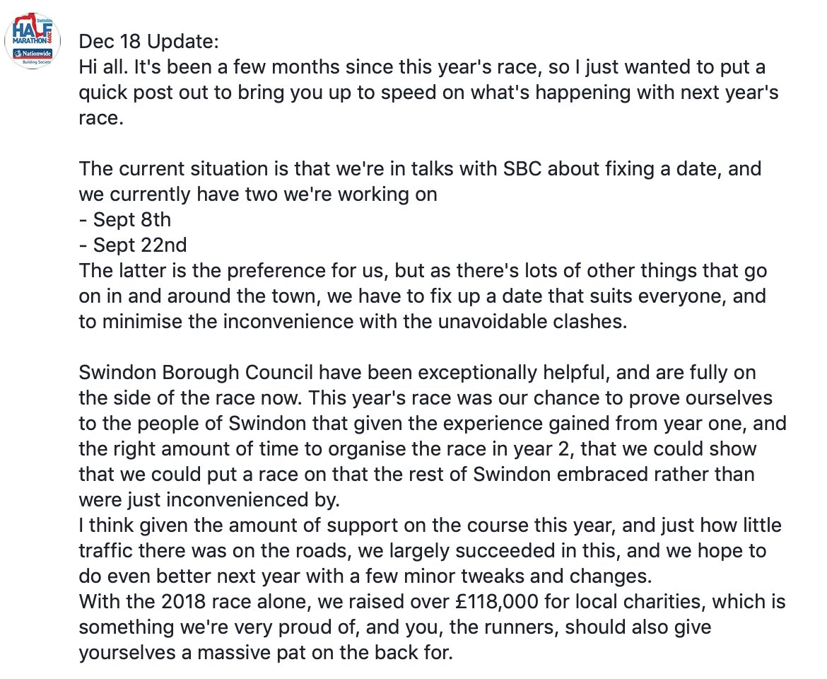 Dec 18 Update, and info on next year's race :