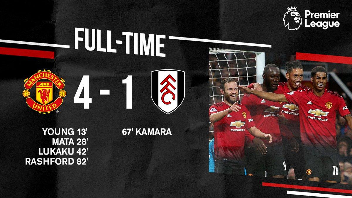نهاية اللقاء.  النتيجة 4-1 لمصلحة #يونايتد