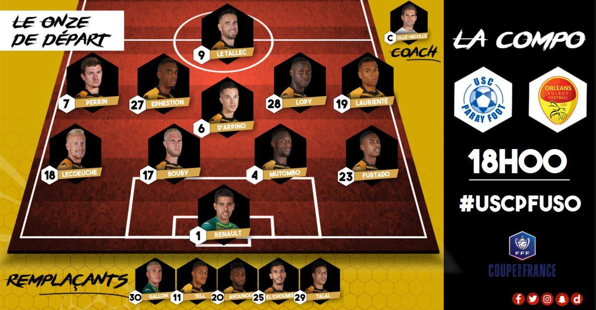 Coupe de France 8ème tour   USC Paray Foot (R1) -  US Orléans Dt6LxudX4AAlroC