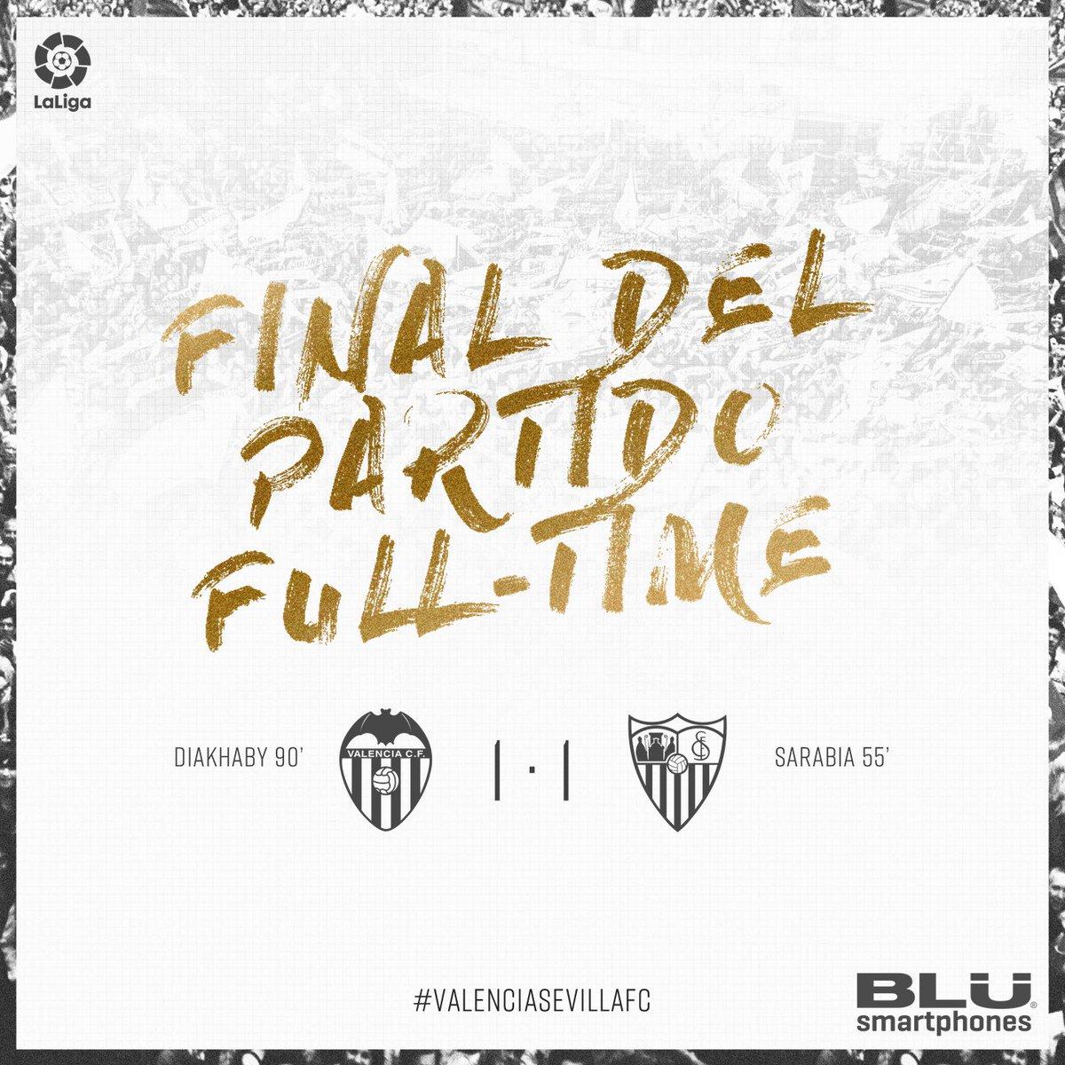 FINAL DEL PARTIDO 1-1 ⚽ | 90' 🕰| #ValenciaSevillaFC