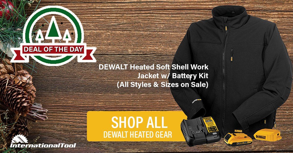 0750e7e78a95d We marked down our #Dewalt Heated Gear jackets & more! Get FREE Shipping  plus holiday pricing today. Shop all Dewalt Heated Gear here: ...