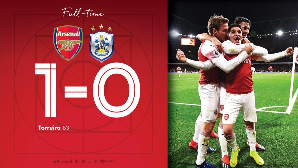 Arsenal 1 Huddersfield 0
