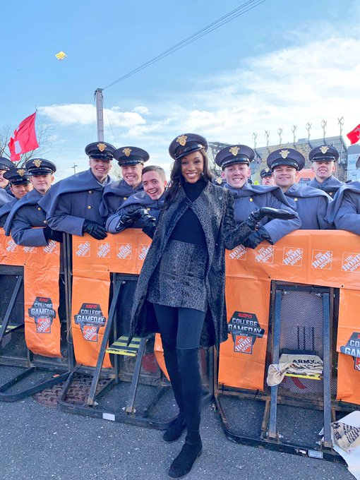 Does this make me a Plebe??? Thanks for a great show @ArmyNavyGame Photo