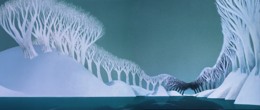 Ward Jenkins On Twitter I Love These Background Pans For Once Upon A Wintertime From Melody Time 1948 Mary Blair Was Credited For Color And Styling On The Film And Her