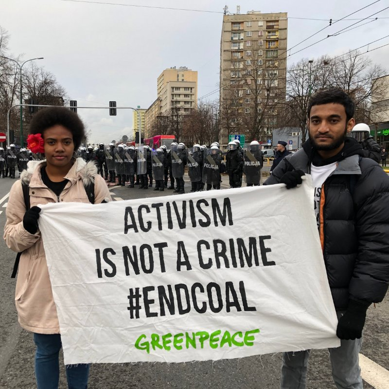 Activism is not a crime ✊ #COP24 #endcoal