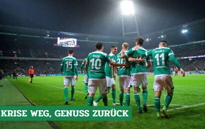 Werders schnelle Wandlung: Krise weg, Genuss zurück - unser Nachbericht zu #SVWF95: #Werder Foto