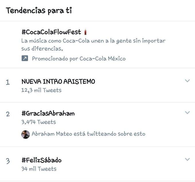 #GraciasAbraham esta en el número 2 de tendencias 🇲🇽👌 Foto