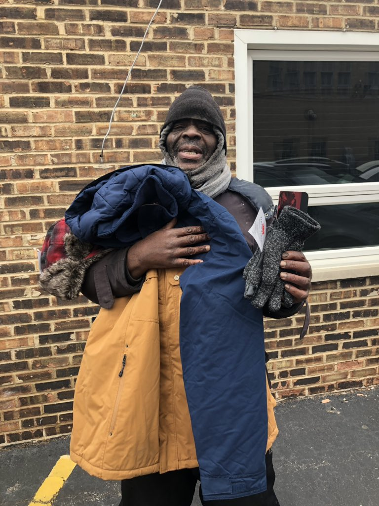 For Christmas Donald wanted a Jacket and something to eat . So I got him a nice big winter jacket & $100 cash to go get something to eat . Merry Christmas Donald