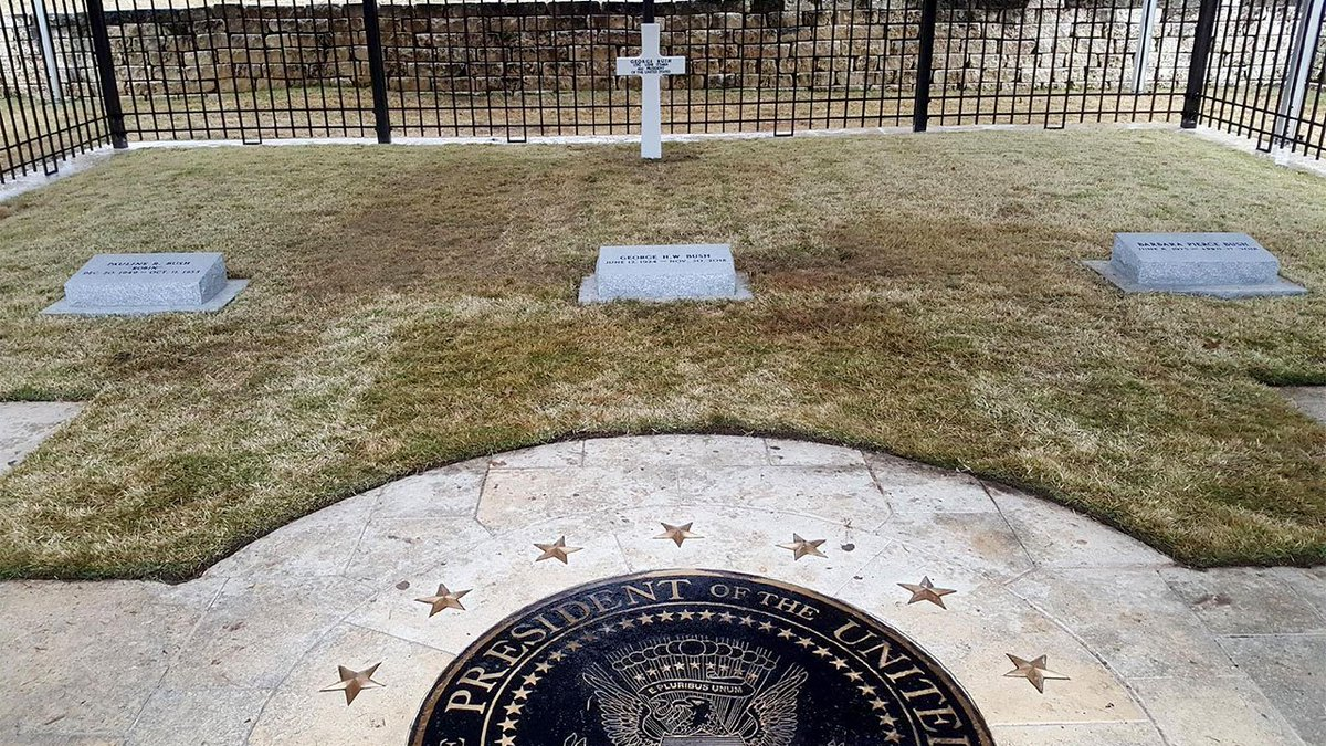 George H.W. Bush gravesite reopens to public > https://t.co/Urjh1LtHhS #kprc2 #hounews #bush41 #remembering41