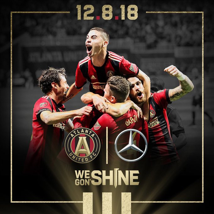 Our city. Our team. Our time. Good luck to the Kings of the East @ATLUTD today! #UniteAndConquer #MLSCup Photo