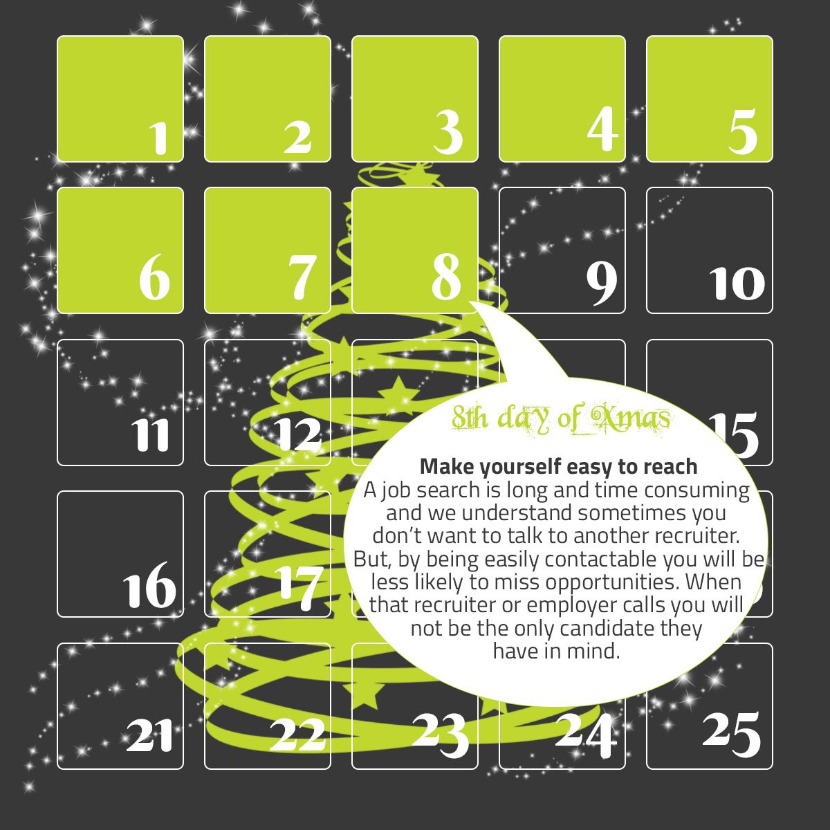 a calendar and a quote reminder about making yourself easy to reach in case of winning facebook sweepstakes