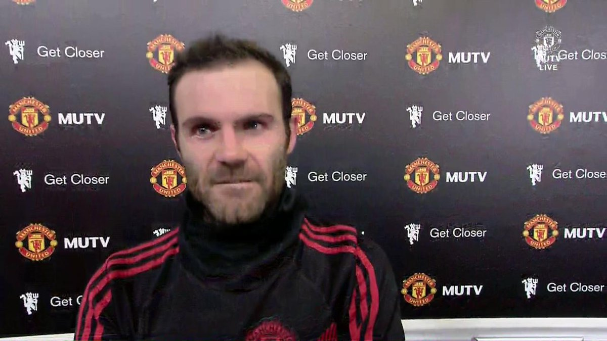"""""""It was what we needed.""""  @JuanMata8 reflects on an important #MUFC victory with #MUTV."""