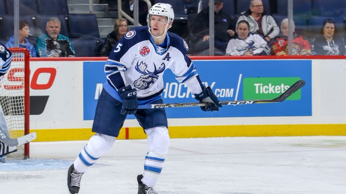 The @NHLJets have reassigned defenceman Cameron Schilling to the #MBMoose. Schilling picked up his first @NHL point during the three-game stint with the big club. #GoMooseGo DETAILS >> Photo