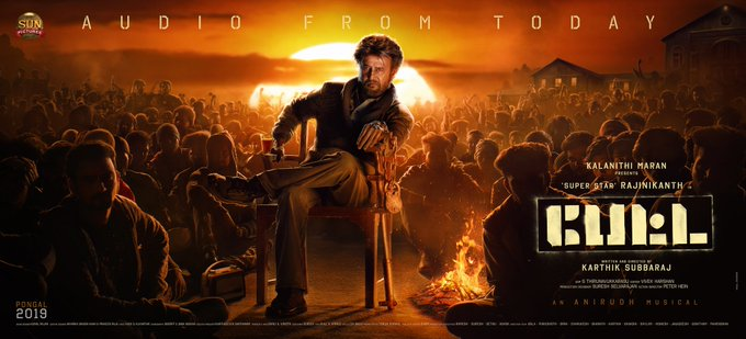 This is what we want 😎 Thalaivar is coming in his Style 🔥 #PettaAudioFromToday @sunpictures Photo