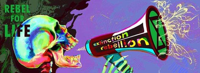 12. Dezember - Freiburg XR Infostand auf dem Markt der Möglichkeiten #ExtinctRebellion #RebelForLife Foto