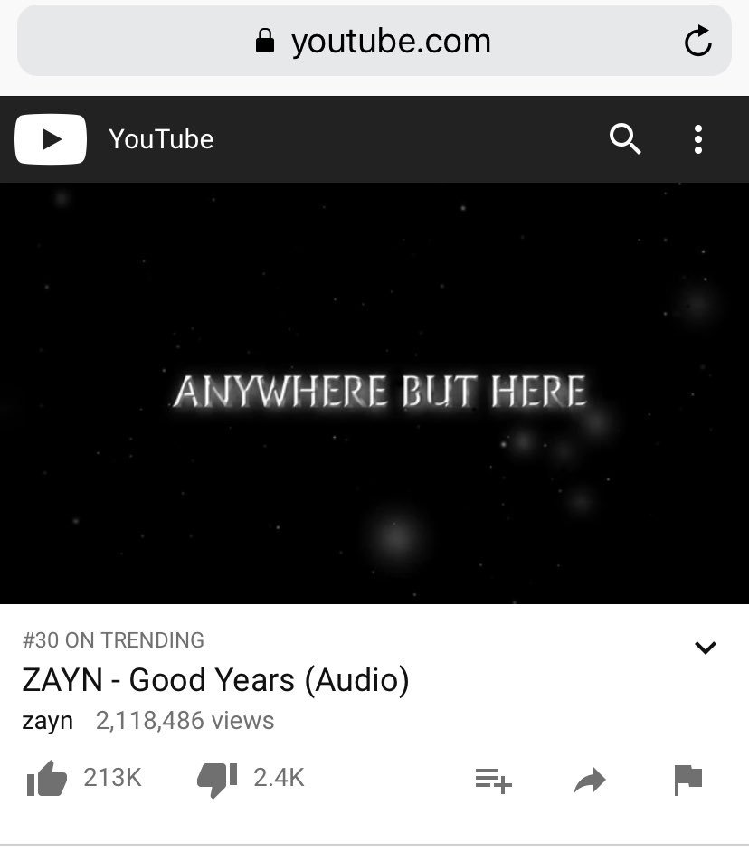 #GoodYears has crossed 2 million views  keep streaming and remember to be logged out of your account and refresh, not replay! <br>http://pic.twitter.com/Clczc0OraZ
