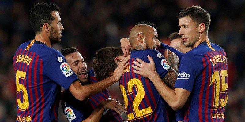 Barcelona gana 4-0 a Espanyol en liga Santander