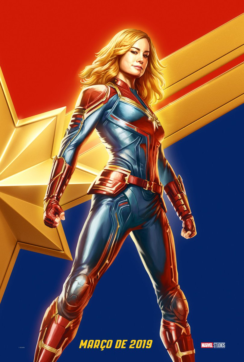 To all the fans who came to the Marvel Panel at Brazil Comic Con today, enjoy this exclusive poster!!!! I'll get you a drawing of Goose next time #CapitãMarvel (via @BrieLarson)