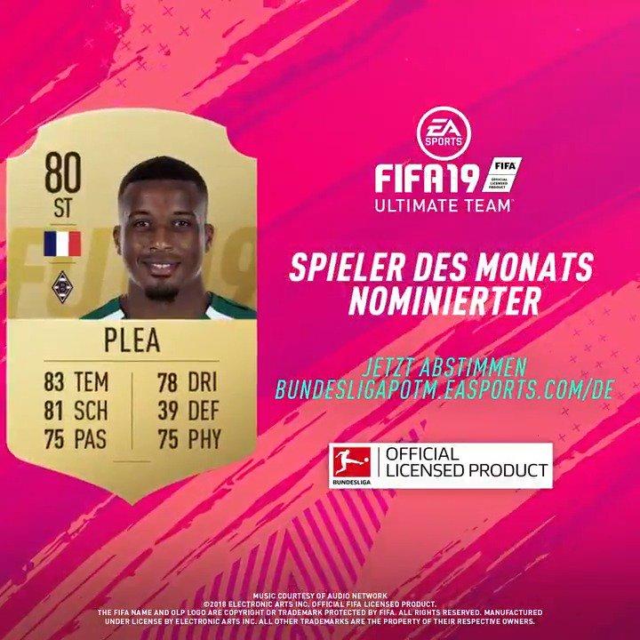 6⃣ Nominierte - nur 1⃣ kann gewinnen 🗳️ #POTM #FUT #FIFA19 @borussia  Stimme ab für @alassane_plea und mache ihn zum #BundesligaPOTM 👉 http://bundesligapotm.easports.com/de