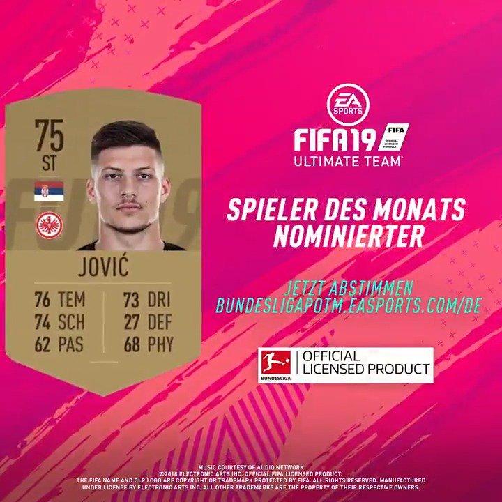 6⃣ Nominierte - nur 1⃣ kann gewinnen 🗳️ #POTM #FUT #FIFA19 @Eintracht  Stimme ab für Luka #Jovic und mache ihn zum #BundesligaPOTM 👉 http://bundesligapotm.easports.com/de