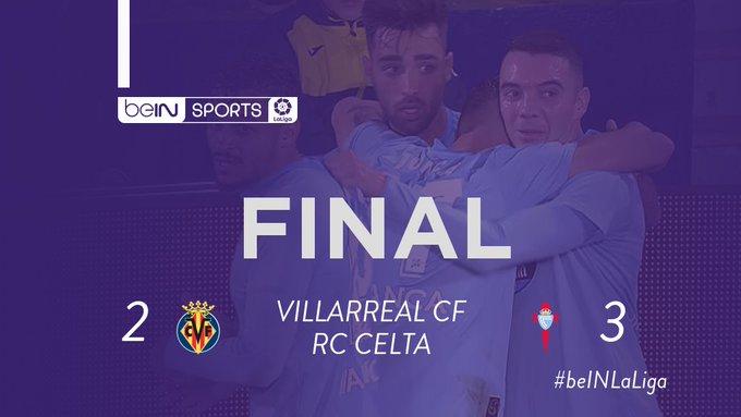 📺 #VillarrealCelta 📍 ¡FINAL! ⚽ ¡El @RCCelta vuelve a ganar en un partido loco! 💛 VIL 2-3 CEL 💙 📲 #beINLaLiga Foto