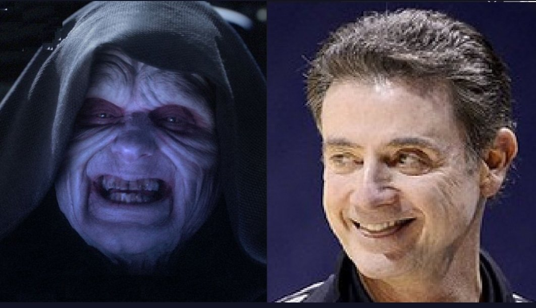 Beating Louisville won&#39;t quite be the same without Rick Pitino roaming the sidelines.  A shame it is he was fired even though involved he was not in any sinister acts. #VictimSithRicky #IUBB<br>http://pic.twitter.com/ksNI4KonSJ