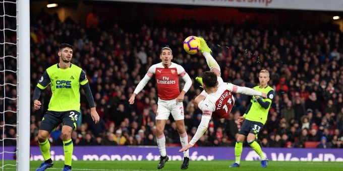 Arsenal vs. Huddersfield: el uruguayo Lucas Torreira marcó un sorprendente gol de tijera | VIDEO Photo