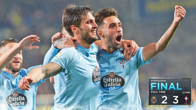 🏁 ¡FINAAAAL! Se sufrió hasta el final, pero regresamos a casa con los tres puntos. Goles de Brais, Okay y Maxi. ¡HALA CELTA! #VillarrealCelta 2-3 #afoutezaecorazón 💙 Foto