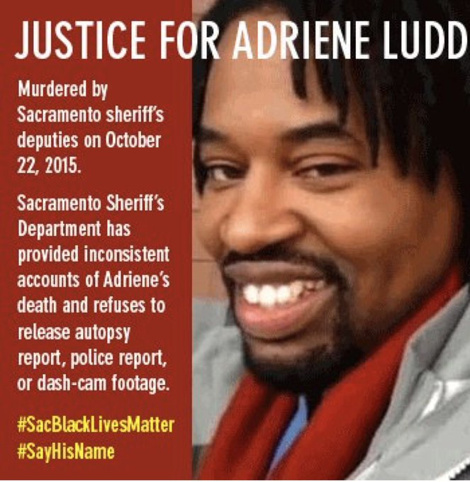 Sac Fact: @sacsheriff LEO McEntire drive his vehicle 90 mph through a Carmichael neighborhood to shoot at Adriene Ludd 33 times. Abolition IS community safety! ABOLISH & REBUILD! Tonight! #SacFacts @Blklivesmatter Photo