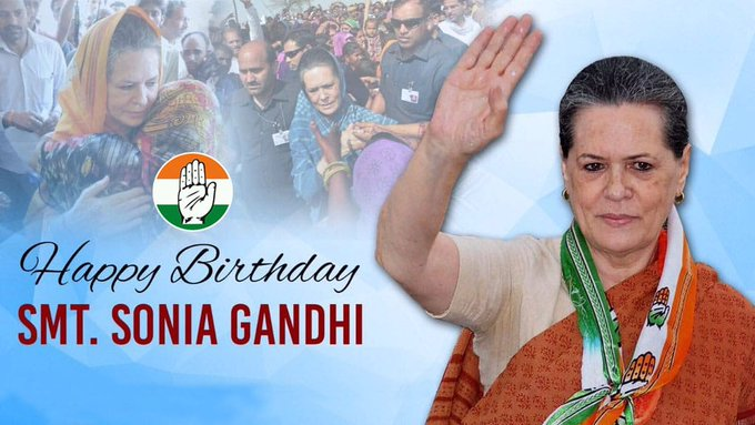 Birthday Wishes to our respected leader Smt Sonia Gandhi ji. Your dignified presence Madam, has been a source of inspiration - your sacrifices, a lesson in selflessness. May the almighty bless you with a long & healthy life ! #HappyBirthdaySoniaGandhi Photo