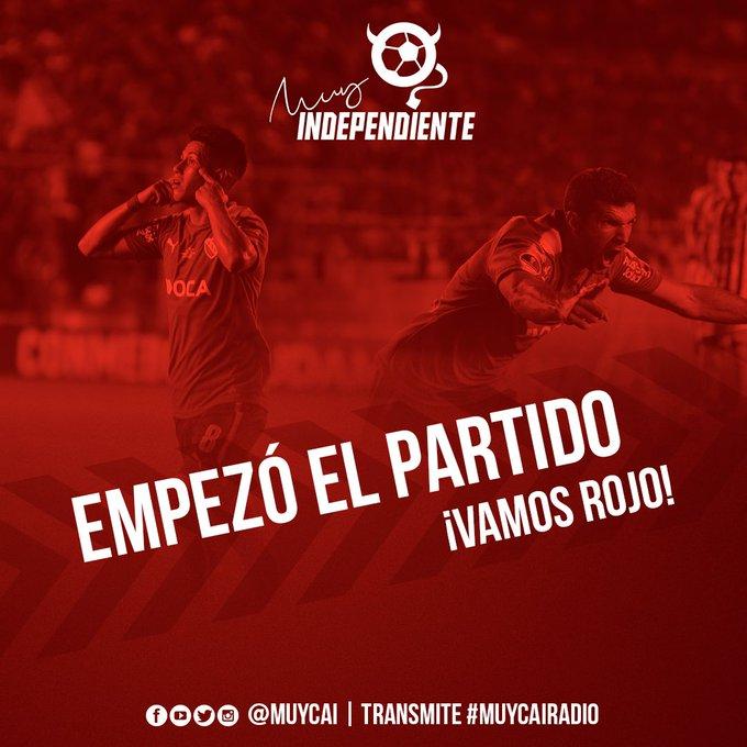 ¡Pelota en movimiento! Ya juegan en el Estadio Malvinas Argentinas Godoy Cruz e Independiente por la fecha 15 de la @argsaf. #VamosRojo 🔴 Foto