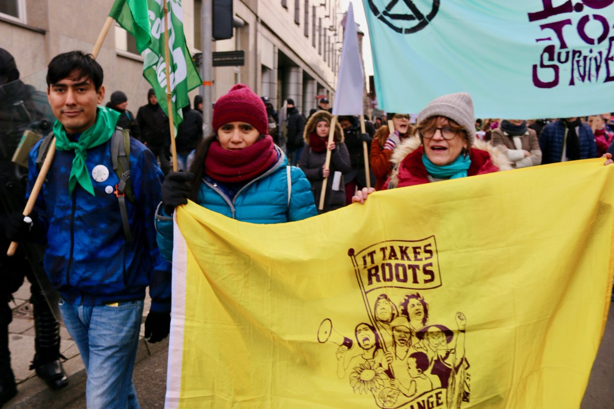 Today we took to the streets of Katowice, Poland for the climate march during #COP24. We mobilized to continue the pressure from Sol2Sol – lifting up the messages #OurFutureWillNotBeTraded and fighting for the real solutions of a locally driven #JustTransition.