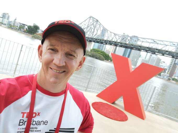 #tedxbrisbane the weather gods have smiled at this beautiful location and the first session is underway. Photo