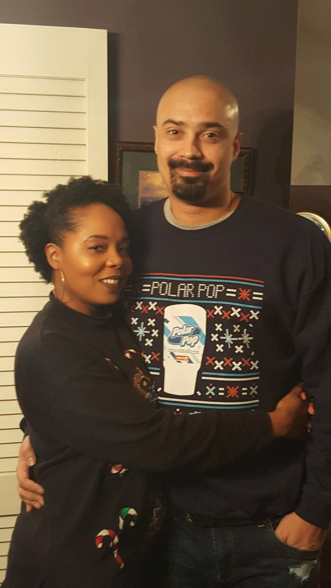 """Emmett Golden on Twitter: """"Ugly Christmas Sweater party with my wife.… """""""