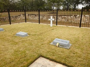 Here a some great photos of the gravesite on the grounds of the Bush Center. Photo Credit: Butch Ireland.