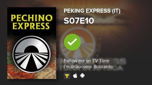 test Twitter Media - I've just watched episode S07E10 of Peking Express (...! #pekingexpress  #tvtime https://t.co/OlS9620W5l https://t.co/rSI6JJ4H1Q