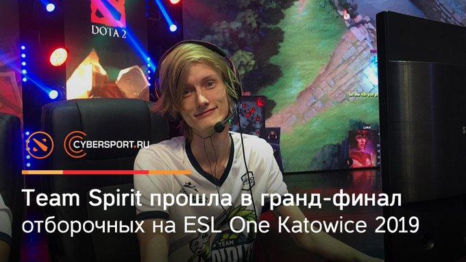 В рамках европейских отборочных на предстоящий #ESLOne Katowice 2019 @Team__Spirit сумела расправиться со своими оппонентами и занять место в гранд-финале квалификации: Foto