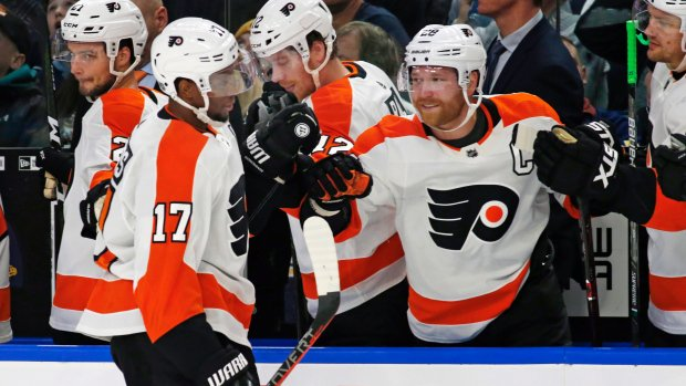 Giroux leads Flyers in victory over Sabres. MORE: Photo