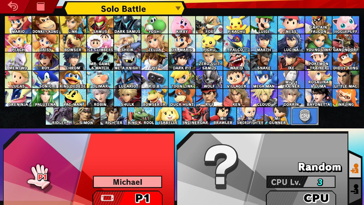 Unlocked them all! Ready for a Lets Play tournament. #SSBU