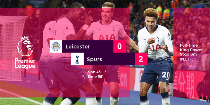 Spurs go back to third after a Son stunner and Dele headed finish secure them all three points #LEITOT Photo