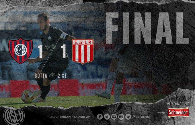 ⏱ Final del partido #SanLorenzo 1 (Botta -p-) - Estudiantes LP (Pavone -p-) 1 Foto