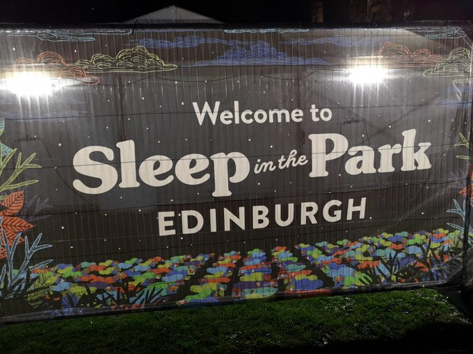 Big shout out to everyone doing the #sleepinthepark across Scotland tonight to raise funds and #endhomelessness. Stay warm! Photo